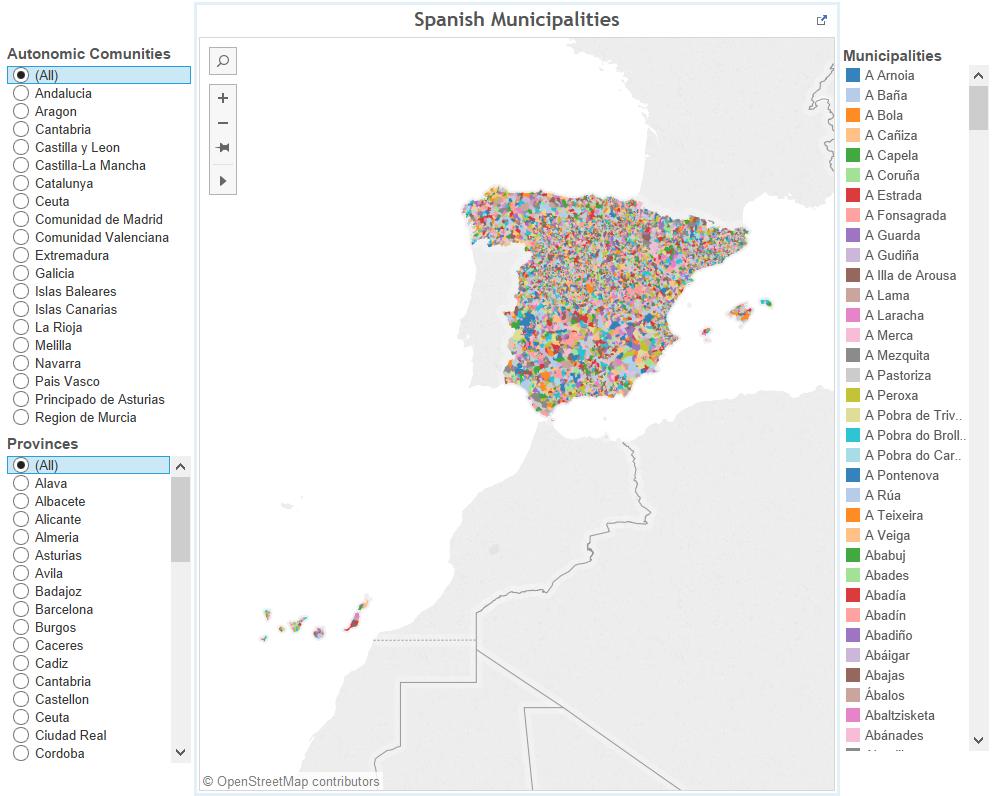 Spanish municipalities