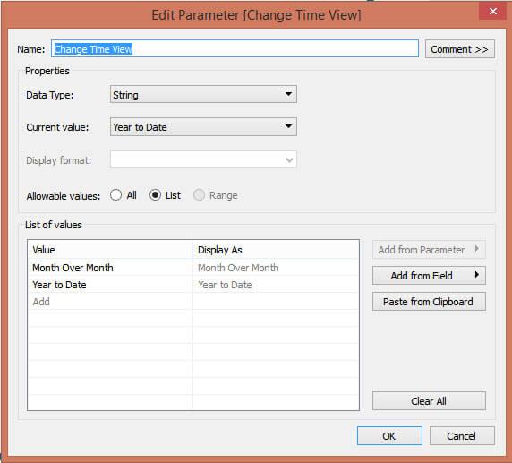 create date parameter