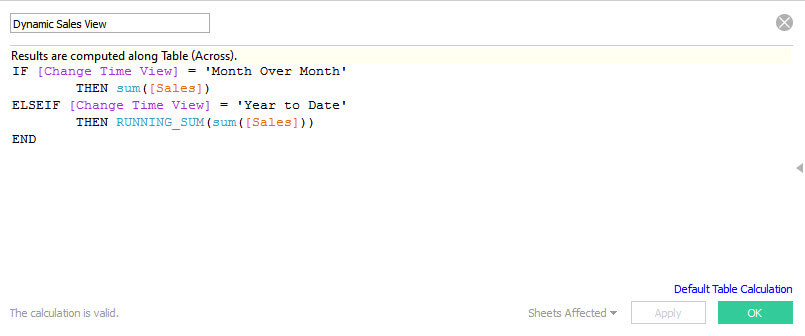 dynamic date views