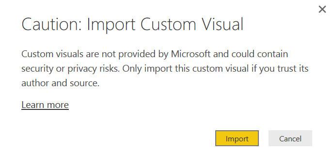 import custom visual