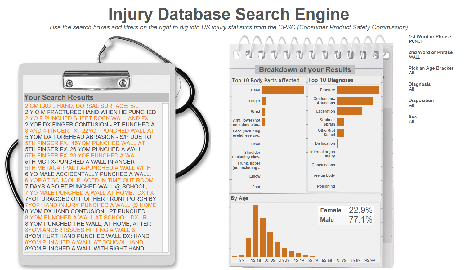 Injury Database Search Engine