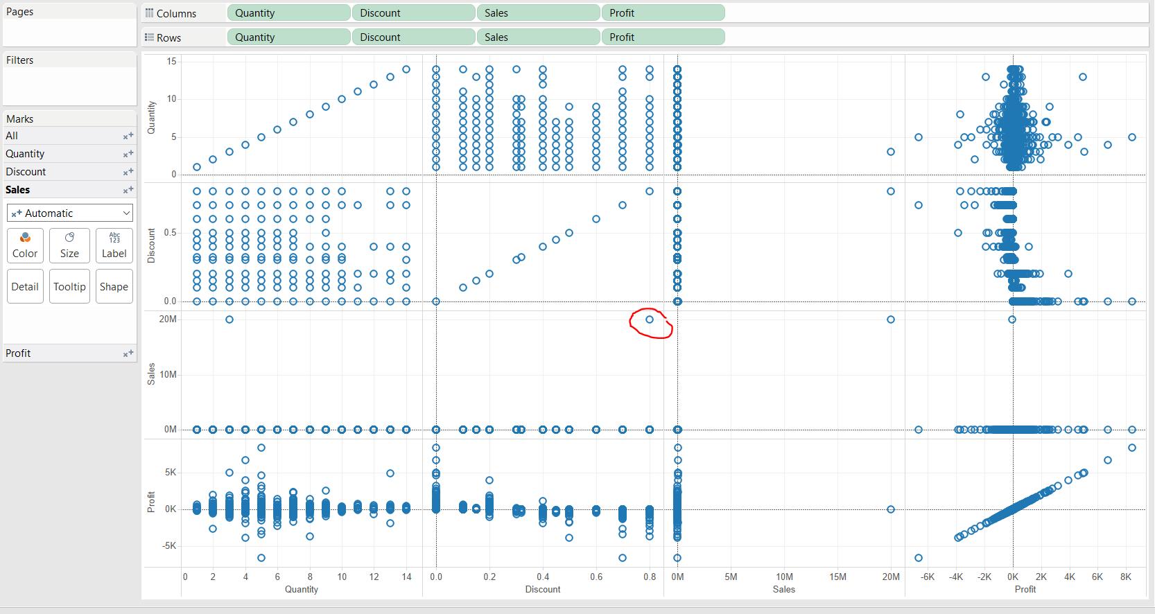 Outliers screenshot