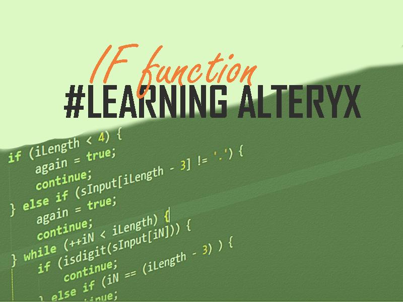 IF function Alteryx