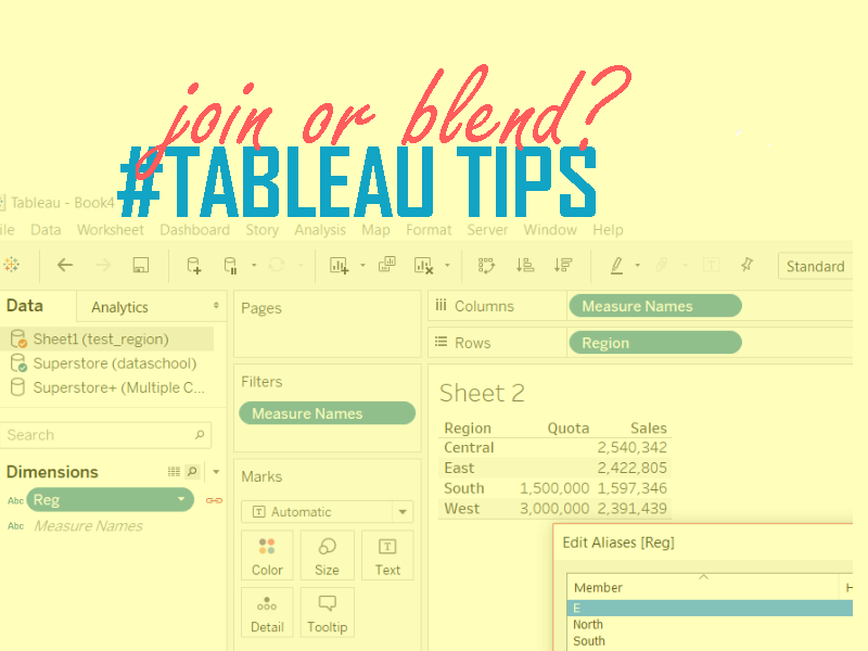 Blend or join in Tableau