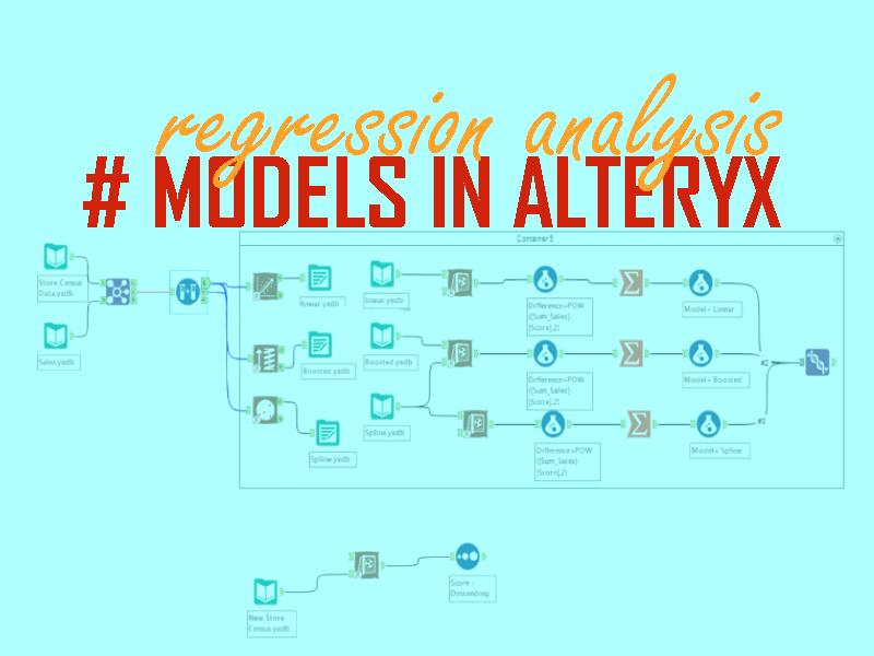 regression analysis in alteryx