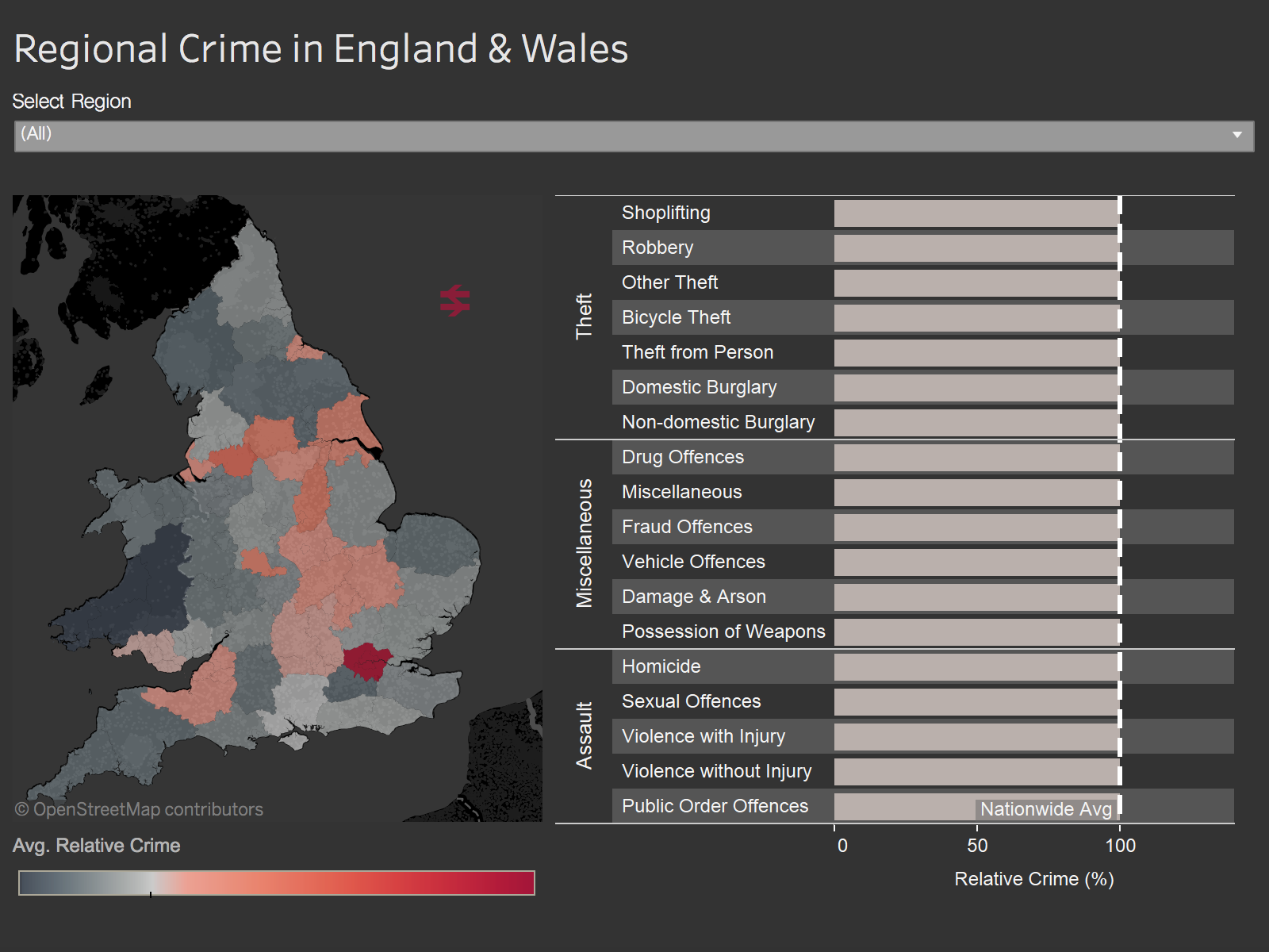 Philip Mannering explores regional crimes in England and Wales