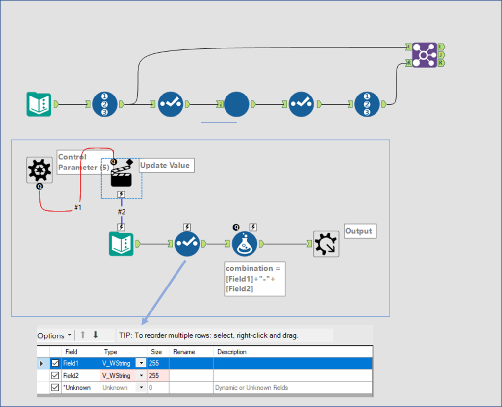 initial alteryx layout with batch macro