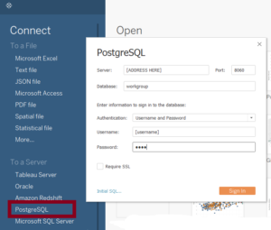 The Data School Connecting To Tableau Server S Postgresql Data Historical Tables