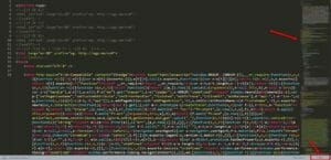 HTML code of DS website on Sublime Text