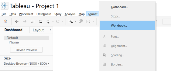 A quick tip to format all fonts and lines. This saves you revisiting all worksheets after building a dashboard.